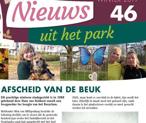 Nieuws uit het Park is weer uit